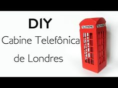 DIY: Como Fazer uma Cabine Telefônica para Decoração - Artesanato com Palitos de Picolé e Fósforo - YouTube