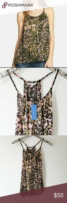 "Rebecca Minkoff Silk Tank Gorgeous printed tank is perfect for a night out . Material: 100% Silk Length from Shoulder  Front 26"" Back 27"" Rebecca Minkoff Tops"