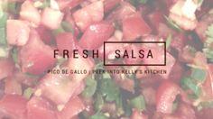 Fresh SALSA and pico de gallo. So yummy!
