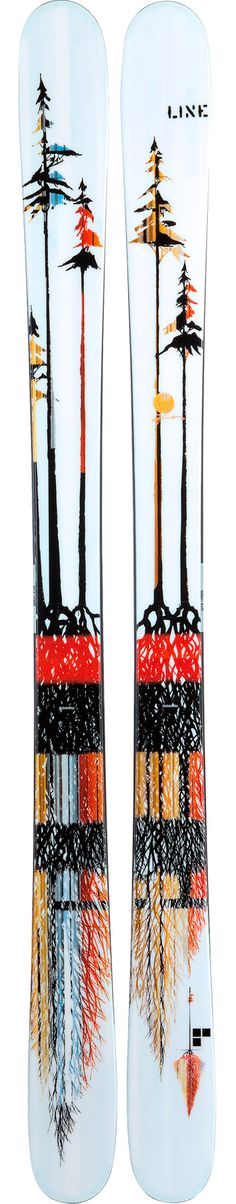 Although they're skis, the design would be a really great tattoo on the legs, arms, or back