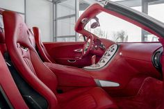 Nice red Bugatti Veyron Grand Sport upholstery