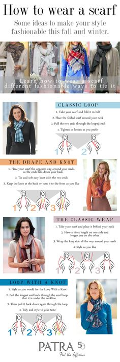How to wear a scarf #infographic #patraselections