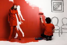 Red room cutout walkout