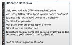 Hľadáme DéTéPáka - http://detepe.sk/hladame-detepaka/