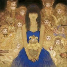 Girl with doll by Masaaki Sasamoto