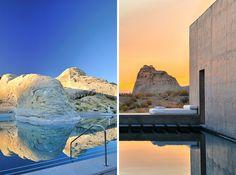 Amangiri Resort e Spa, no sul de Utah, EUA. Projeto dos arquitetos Marwan Alsayed, Wendell Burnette e Rick Joy. #arquitetura #arte #art #artlover #design #architecturelover #instagood #instacool #instadesign #instadaily #projetocompartilhar #shareproject #davidguerra #arquiteturadavidguerra #arquiteturaedesign #instabestu #decor #architect #criative #paisagem #contemplacao #amangiriresortespa #utah #eua #marwanalsayed #wendellburnette #rickjoy