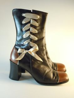 Upcycled Neo-Victorian Steampunk Granny Boots