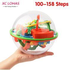 100-158 Kroki Big Size Perplexus Labirynt Piłka Magia Rolling Marmurowa 3D Łamigłówka Puzzle Cubes Funny Globe Ball gry