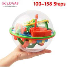 100-158 Steps Big Size 3D Perplexus Maze Ball   Magic Rolling  Marble Puzzle Cubes Funny Globe Ball  Brain Teaser Game