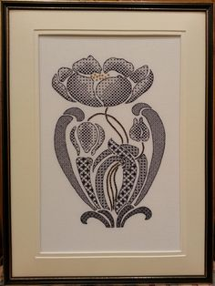 Art Nouveau Poppy Blackwork Chart : Beautiful Blackwork from Maggie Gee Needlework Studio