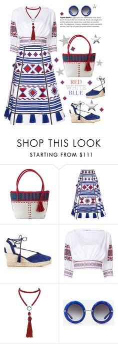 """Red, White & Blue"" by lence-59 ❤ liked on Polyvore featuring NOVICA, Vita Kin, Kanna Shoes, TIBI, Marina J., Dolce&Gabbana and fourthofjuly"