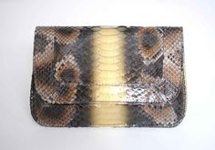 As RZ would say I DIE  Mary Nichols 'Rebekah Clutch' in metallic python