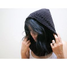 The Sabrina Hooded Cowl by Row13Knits on Etsy
