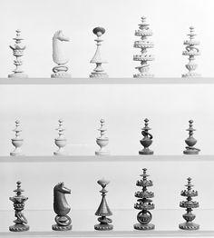 Hungarian Chess Set - 1885