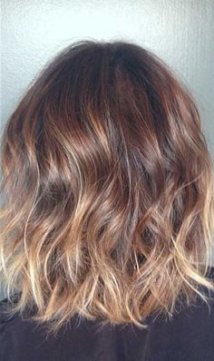 Short Brown Hair with Blonde Ombre Highlights