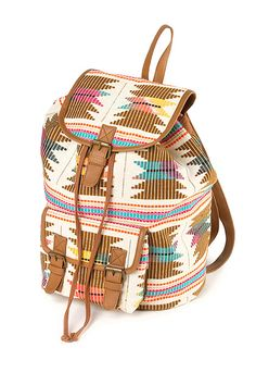 Aztec print backpack by Claire's.
