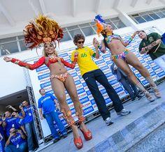Valentino Rossi doing the Samba!