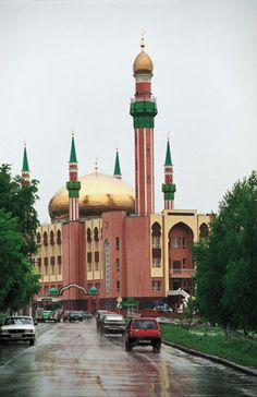 Riza Fakhreddin Mosque in Almetyevsk, Republic of Tatarstan, Russia