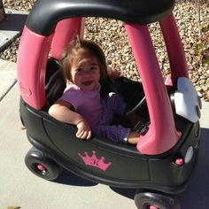 Saw this awhile back but I plasti diped my niece a Cozy Coupe for her to roll around in