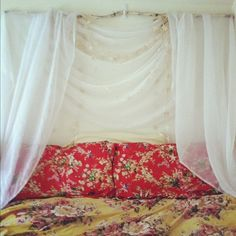 Canopy Headboard with a branch