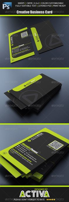 81 best 80 stunning qr code business cards images on pinterest buy creative business card by activamedia on graphicriver business card at cmyk and x with bleed lines and guides included and enabled reheart Gallery