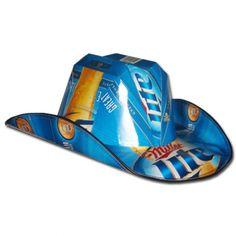 a76c09b1ec6 Miller Lite Traditional Cowboy Beer Hat Made From Beer Cases -  www.ultimatemancaveshop.com