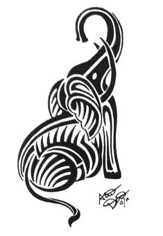 tribal elephant drawing - Google Search