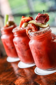 Bloody mary bar @ Rockit Burger Bar