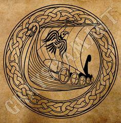 Norway culture viking drakkar north ship vikings warriors sea north wind logo digital by GrayshamArt on Etsy