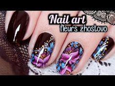 Cherry Nail art - le blog: Nail art composition de fleurs au zhostovo