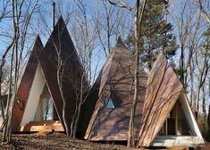 hiroshi nakamura, hiroshi nakamura & NAP, japanese architecture, nasu tepee, teepee-inspired homes, timber homes, small homes, small homes in the woods