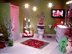 Ultimate Christmas Bathroom : Rooms : Home & Garden Television All Things Christmas, Christmas Themes, Christmas Lights, Christmas Holidays, Christmas Decorations, Merry Christmas, Christmas Crafts, Whimsical Christmas, Room Decorations