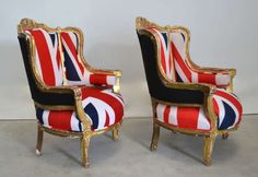 Pair of French Louis XV Style Bergeres | From a unique collection of antique and modern bergere chairs at http://www.1stdibs.com/furniture/seating/bergere-chairs/