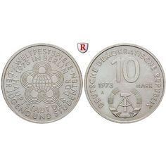 DDR, 10 Mark 1973, Weltjugendspiele, vz, J. 1545: Kupfer-Nickel-10 Mark 1973. Weltjugendspiele. J. 1545; vorzüglich 3,50€ #coins