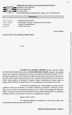 Irani Lima: JUSTIÇA CONDENA ORTIZ  (HÁ JUÍZES EM TAUBATÉ)