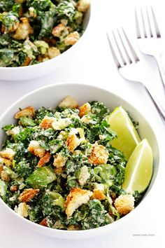 Swap romaine for kale and feel healthy AF. Get the recipe from Gimme Some Oven.