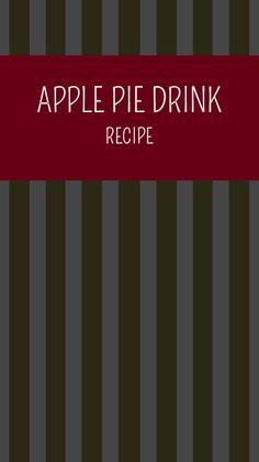Apple Pie Drink