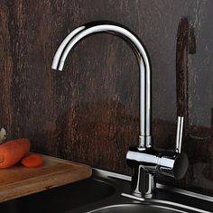 Chrome Kitchen Centerset Faucets with 1 Handles