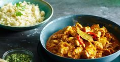 A tasty coconut chicken curry made lighter with cauliflower rice.