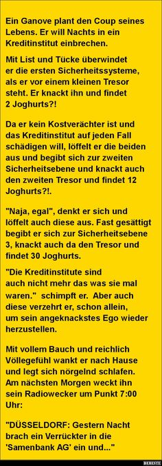 Ein Ganove plant den Coup seines Lebens.. | DEBESTE.de, Lustige Bilder, Sprüche, Witze und Videos