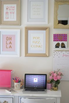 Dressing the Desk | Southern Curls & Pearls