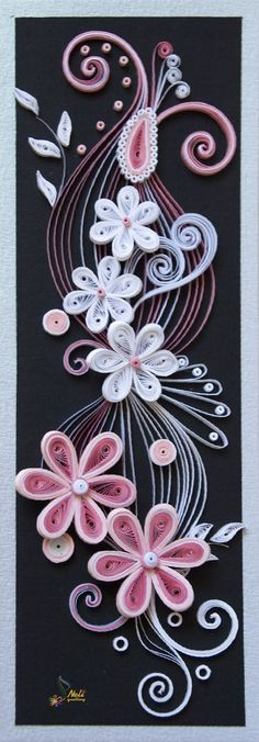 Ornament ~ Neli Quilling Art at http . Neli Quilling, Origami And Quilling, Quilled Paper Art, Paper Quilling Designs, Quilling Paper Craft, Quilling Patterns, Paper Crafts, Quilling Tutorial, Filigrana Neli