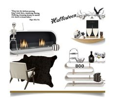 """Halloween Party Decor'"" by dianefantasy ❤ liked on Polyvore featuring interior, interiors, interior design, home, home decor, interior decorating, Menu, Emporium Home, Mina Victory and Crate and Barrel"