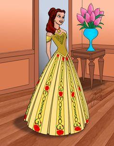 Платье коронационное: Belle исполнителя JadynNytewell на deviantart