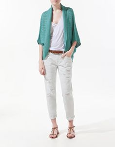 @Kristina N    A nice throw over shall when for a spring evening. Pair it with a simple basic top.