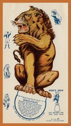 Circus Lion toy card