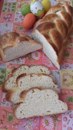 Tejszínes kalács Bread, Food, Meal, Essen, Hoods, Breads, Meals, Sandwich Loaf, Eten