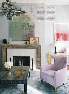 Lavender. David Collins' London apartment at House and Garden