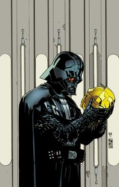 Darth Vader by Killian Plunkett. Thought this was very Hamlet.