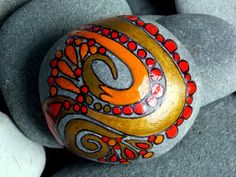Passion On Fire / Painted Rock / Sandi Pike Foundas / LoveFromCapeCod.etsy.com